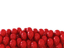 Red festive balls as a background with space for text over them. Red festive balls as a background with space Royalty Free Stock Photos