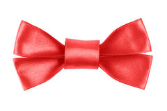 Red festive bow made from ribbon Stock Photography
