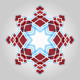 Red festive christmas star Stock Images