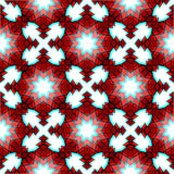 Red festive christmas star seamless pattern Royalty Free Stock Photography
