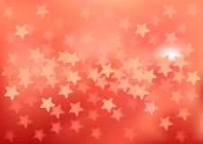 Red festive lights in star shape, vector. Vector background defocused festive lights, no size limit Royalty Free Stock Photos