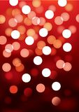 Red festive lights, vector background. Vector background defocused festive lights, no size limit Stock Images