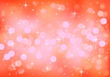 Red festive lights, vector background. Vector background defocused festive lights, no size limit Royalty Free Stock Image