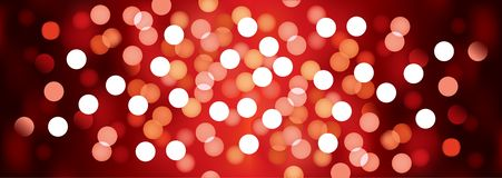 Red festive lights, vector background. Vector background defocused festive lights, no size limit Stock Photo