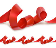 Red festive ribbon. Seamless vector Royalty Free Stock Photo