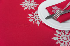 Red festive table Royalty Free Stock Images