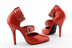 Red Fetish Heels Royalty Free Stock Photos