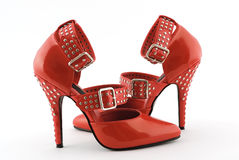 Red Fetish Stilettos Stock Photo