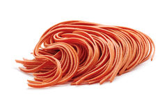 Red fettuccine pasta Royalty Free Stock Photos