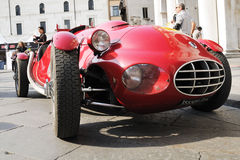 Red Fiat 1100 Gilco vintage car stock image