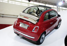 Red Fiat 500 car royalty free stock image