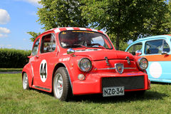 Red Fiat Abarth Rally Car stock photo