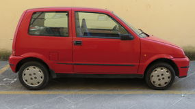 Red Fiat 500 Royalty Free Stock Photos