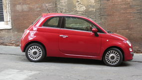Red FIAT 500 car Stock Image