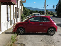 Red Fiat New 500 car Stock Image