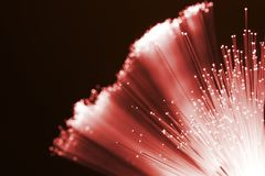 Red fiber optics Royalty Free Stock Photos