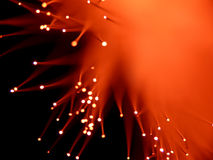 Red fiber optics Royalty Free Stock Images