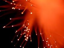 Red fiber optics. Red fiber optic close up Royalty Free Stock Images