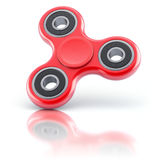 Red fidget spinner Royalty Free Stock Photo