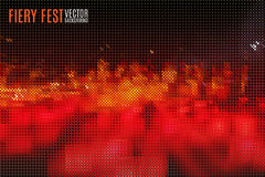 Red fiery background. Abstract fiery fest vector background build of tiny geometric particles Stock Photos