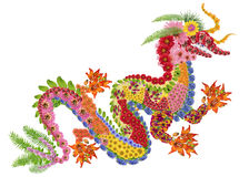 Red fiery Chinese dragon Stock Photos