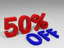 Red fifty percent Stock Photography