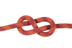 Red figure eight knot Stock Photo