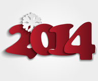 Red figures 2014. New Years background with paper figures 2014 Stock Image