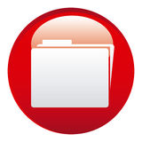 Red file emblem icon. Illustraction design image Royalty Free Stock Images