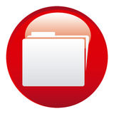 Red file emblem icon. Illustraction design image Royalty Free Stock Photo