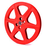 Red film reel. Film reel on the white background Royalty Free Stock Images