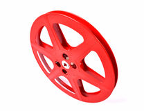 Red film reel Stock Images