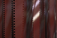 Red Film Strip Background. High quality render Stock Photo