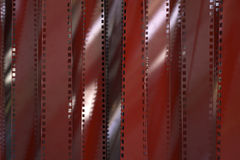 Red Film Strip Background. High quality render Stock Image