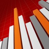 Red Financial stat background. Large image 3d of financial stat Stock Photos
