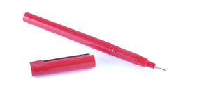 Red fineliner Stock Photography