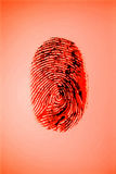 Red finger print Royalty Free Stock Photography