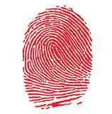 Red FIngerprint Royalty Free Stock Images