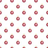 Red fir tree ball pattern seamless vector vector illustration