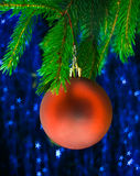 Red fir-tree toy Royalty Free Stock Images