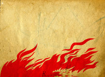 Red fire Royalty Free Stock Photo