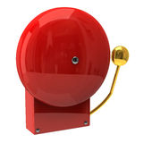 Red fire alarm. Isolated on white background Royalty Free Stock Photography