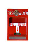 Red Fire Alarm. On White Background - Building Safety Device Stock Photography
