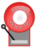 Red fire alarm. Red alarm system used for fire- vector Royalty Free Stock Photos