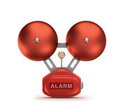 Red fire alarm bell ringer Royalty Free Stock Images