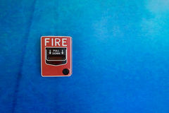 Red Fire Alarm box Stock Photography