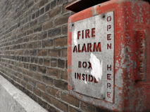 Red Fire Alarm Box Royalty Free Stock Photos