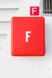 Fire alarm box and sign Stock Photography