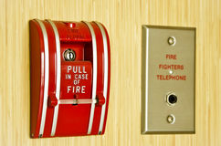 Red Fire alarm Royalty Free Stock Photo