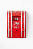 Red Fire Alarm Pull Switch. Stock Photography